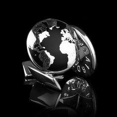 The World Manschettknappar, Svart 598 kr. - RoyalDesign.se