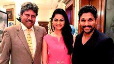 Stylish Star Allu Arjun meets Cricketer Kapil Dev