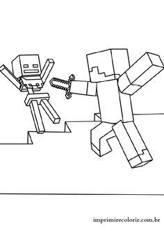 imagens do minecraft para imprimir e colorir criança colorir