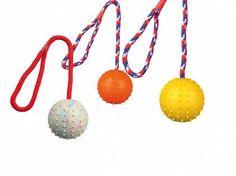 Spielzeuge für HundeTrixie Ball am Seil - Naturgummi 8 cm