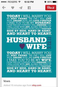 Some wedding vows