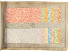 Tarif Album 1937-1938 - Price Estimate: $3000 - $5000 Wallpaper Stencil, Wallpaper Samples, Old Paper, Auction, Album, Quilts, Blanket, Paper, Quilt Sets