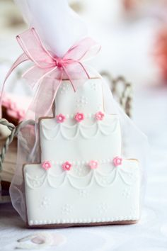 100 Large Wedding Cake Cookie Edible Wedding by WackyCookies, $700.00