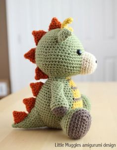 Amigurumi Crochet Pattern Spike the Dragon by littlemuggles …