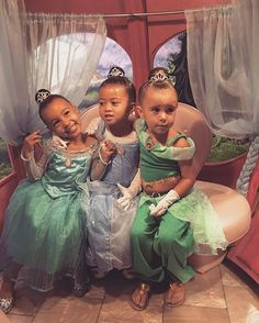 The girls got princess make overs at the Bibbity Bobbity Botique! I've never seen anything sweeter! Thank you @Disneyland for the magical memories!