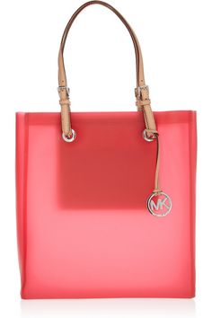 MICHAEL Michael Kors Jet Set rubber and leather tote