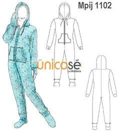 moldes para pijama enteriza - Buscar con Google