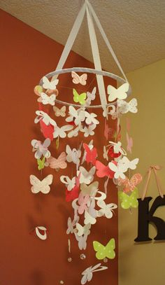 Patterned paper butterflies.