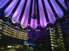Berlin sony center by night
