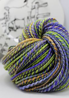 Handspun Yarn Gently Thick and Thin Two Ply Yarn by SheepingBeauty, $38.00