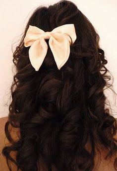 i plan on wearing my hair down so this is a cute idea to dress it up some.