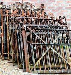 Dream to find all these beautiful antique wrought iron gates, circa 1880's - Southern Accents Architectural Antiques - www.sa1969.com