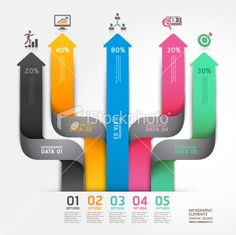 Modern arrow business diagram origami style options banner. Royalty Free Stock Vector Art Illustration