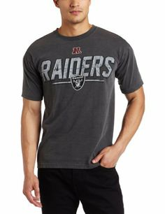 b150c0b41e4 NFL Men's Oakland Raiders Vintage Roster II Short Sleeve Pigment Dye Tee  (Pigment Pepper, Large) by Majestic. $24.99