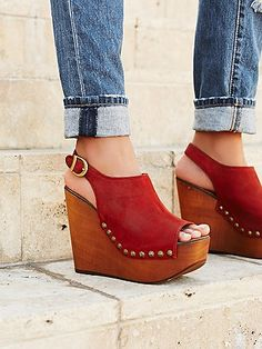 Free People Jeffrey Campbell clog wedges...These are awesome!