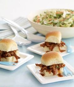 South Carolina BBQ Pork Sliders -- make the pork in your crock pot