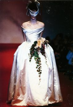 Westwood, what a concept! Bride bound & blindfolded.