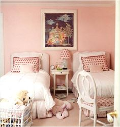 Decorating Girls Room With Two Twin Beds | Design Inspiration of Interior,room,and kitchen