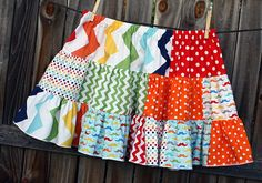 Mustache Twirl Skirt by fluffygirlboutique on Etsy, $39.99