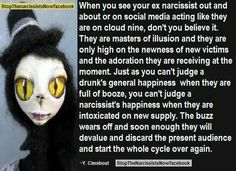 Narcissistic Abuse Cycle... Not my ex... His ex narcissistic wife.