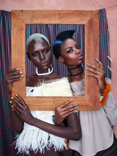 Ajak Deng and Maria Borges Star in Photoshoot Featuring African Designers