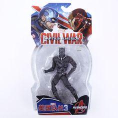 Legends Avengers Civil War Captain America Iron Man Black Widow Black Panther Scarlet Witch Ant Man PVC Action Figure Toy