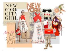 """""""NYFW"""" by skorretto ❤ liked on Polyvore featuring Sergio Rossi, Dot & Bo, Christian Louboutin, L'Oréal Paris, women's clothing, women, female, woman, misses and juniors"""