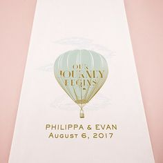 Steampunk Hot Air Balloon Personalized Aisle Runner - QUAINT WEDDING STATIONERY