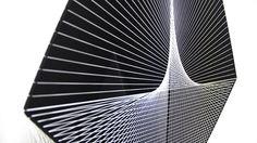 Kanata Goto, Night 9, iron, polyester threads, 120x48.5x19.5cm, 2016 (detail)