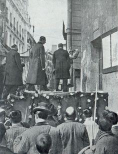 Madrid. El día de la inauguración de la Gran Vía fue un evento muy concurrido en 1910.