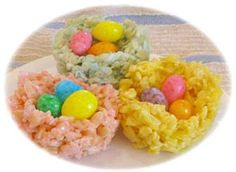 Rice Crispy Nests for easter