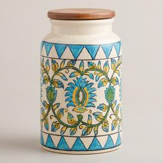 One of my favorite discoveries at WorldMarket.com: Floral Print Ceramic Canister