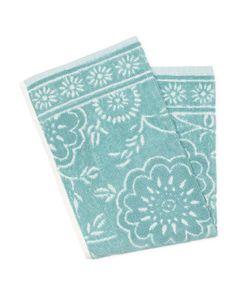 Espalma - whimsey floral hand towel, aqua $6 and up, tjmaxx $3.99