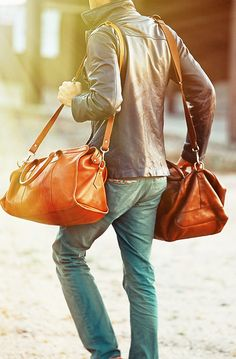 Mens Fasion - District Grain Inspiration. Nice overnight bags!