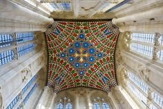 St Edmundsbury cathedral, Bury St Edmunds - the crossing Gothic Cathedral Ceiling Vaulted ceiling - main