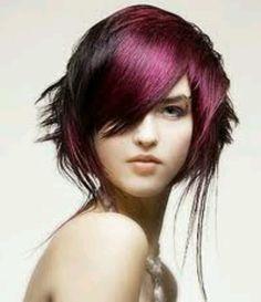 Purple, Fuschia hair