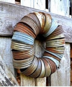 Country themed wreath.