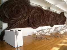 Patrick Dougherty sculpture. Bringing the organic to the modern.