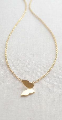 Butterfly Necklace - gold necklace with butterfly charm #jewelrynecklaces