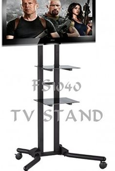 FS1040-2m-tall-TV-Trolley-Floor-Stand-w-Mounting-Bracket-for-LCDPlasma-TVs-Glass-Shelves-0