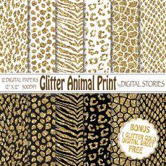 Glitter Animal Print Digital Paper GLITTER by DigitalStories, €2.80