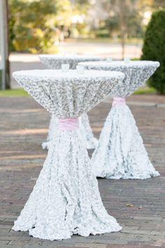 Beautiful tablecloths: http://www.stylemepretty.com/florida-weddings/winter-park-fl/2014/08/01/glitter-and-blush-winter-park-wedding-at-casa-feliz/ | Photography: Amalie Orrange - http://amalieorrangephotography.com/
