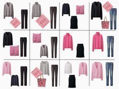 The French Wardrobe + A Common Capsule Wardrobe: Shades of Pink, Navy and Grey - The Vivienne Files 10 Piece Wardrobe, 10 Item Wardrobe, Pink Wardrobe, Travel Wardrobe, Capsule Outfits, Fashion Capsule, Mode Outfits, French Capsule Wardrobe, French Wardrobe Basics