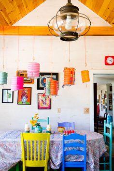 Folk deco and color, farm house
