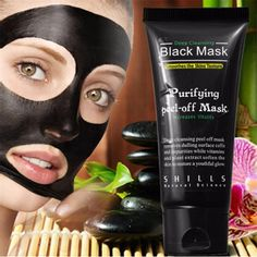 suction Shills Black mask deep cleansing face mask Tearing style resist oily skin strawberry nose Acne remover black mud masks