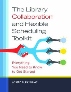 The library collaboration and flexible scheduling toolkit : everything you need to know to get started / Andria C. Donnelly. Santa Barbara, CA : Libraries Unlimited, [2015]   From understanding the current research to gaining support from staff and administrators for implementing a collaborative method of providing school library services, this book gives you the tools for changing your library's methods to impact student achievement. It provides a succinct and accessible yet complete explanation of research about collaboration; supplies practical guidance for moving towards a collaborative methodology, including methods to approach the administration to win support, a training plan for staff, and team planning strategies; explains the many side benefits of collaboration, including lowered student-to-teacher ratios, better accommodation of individual student differences, more physical and personnel resources, and higher student achievement; addresses how to incorporate the library assistant into collaboration as well as what to do if there is no assistant; and identifies methods for handling a variety of personalities and common situational issues or difficulties