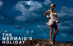 THE MERMAID'S HOLIDAY マーメイドの休日。 PHOTOGRAPHED BY PATRICK DEMARCHELIER STYLED BY LORI GOLDSTEIN