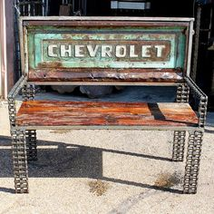 Reclaimed Timber Car Part Truck Tailgate Metal Bench Outdoor Garden Furniture - Love this from CustomMade