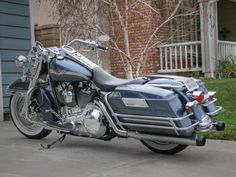 harley road king single with hard bags | Ultra saddlebag guards on Road King