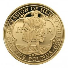 Henry VIII £5 Gold Proof